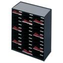 Mailsorter Plastic Stackable 36x A4 Compartments Black Paperflow Modulodoc