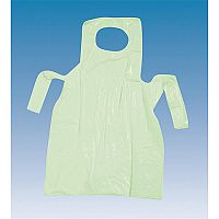 Premium Disposable Polythene Aprons On Rolls Green Pack 200