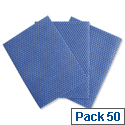 All Purpose Cloths Machine-washable 580x330mm Ref 0223 Pack 50 174893