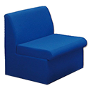Trexus Modular Reception Chair Fully Upholstered W590xD500xH420mm Blue
