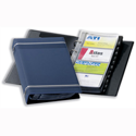 Durable Visifix Business Card Album 4-ring A-Z Index Capacity 200 W145xH255mm Dark Blue 2385-07