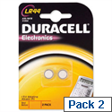 Duracell LR44 Button Battery Alkaline for Calculator or Pager 1.5V Pk 2