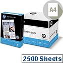 HP Hewlett Packard A4 80gsm White Copier Paper Box of 2500 Sheets CHP110