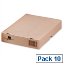 Self Locking Box Carton and Lid A4 305x215x50mm Ref 144666114 Pack 10 193913