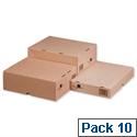 Self Locking Box Carton and Lid A4 305x215x150mm Ref 144668114 Pack 10 193988