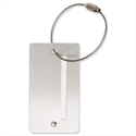 Silver Aluminium Luggage Tag Screw Closure Alumaxx
