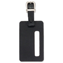 Black Leather Luggage Tag 115x70mm Alassio