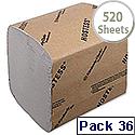 Hostess Bulk Pack Dispenser Toilet Tissue White Pk 36x520 Sheets 4471 Pack of 36