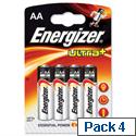 AA Batteries Energizer UltraPlus Pk 4