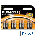 Duracell Plus Power AA Batteries Pack 8