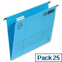 Elba Verticflex Blue Suspension File Foolscap 240gsm L901200 Pack 25