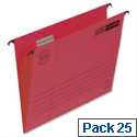 Elba Vertic flex Red Suspension File Foolscap 240gsm Pack 25