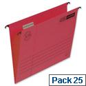 Elba Vertic flex Red Suspension File Foolscap 240gsm Pack 25