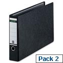 Leitz A3 Lever Arch File Oblong Black Pack 2