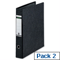 Leitz A3 Lever Arch File Upright Black Pack 2