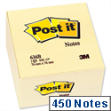 Post-it Note Cube Pad of 450 Yellow Sheets 76x76mm