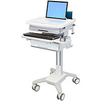 Ergotron StyleView Phd Laptop Cart 1 Drawer