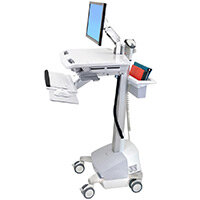 Ergotron StyleView EMR Cart With LCD Arm SLA Powered