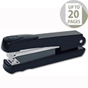 Rexel Meteor Stapler Metallic Black Half Strip