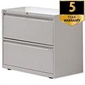 Bisley 2-Drawer Side Filing Cabinet Goose Grey SF2N