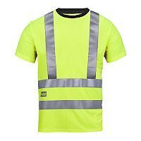Snickers 2543 High-Vis A.V.S. T-Shirt Class 2/3 Size XS Yellow