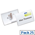 Durable Click Fold Name Badge Combi 54 x 90mm Pack 25