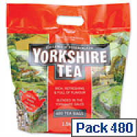 Yorkshire Two Cup Tea Bags Pack 480 [Total 960 Tea Cups]