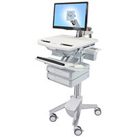 Ergotron StyleView Cart With LCD Arm 2 Drawers
