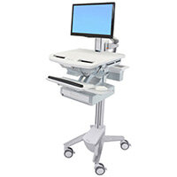 Ergotron StyleView Cart With LCD Pivot 1 Drawer