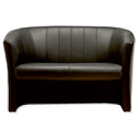 Sonix Leather Tub Sofa - W1220xD660xH760mm