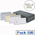 Conqueror DL Laid High White Envelopes Wallet Peel and Seal CDE1440HW Pack 500