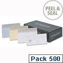 Conqueror DL Laid White Envelopes Wallet Peel and Seal CDE1006BW Pack 500