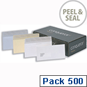Conqueror DL Window Envelopes Wove High White Wallet Peel and Seal CWE1530HW Pack 500