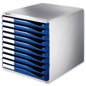 Desktop Filing Unit Blue and Grey A4 10 Drawers Leitz