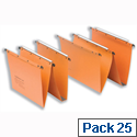 Elba Ultimate AZ0 Orange Vertical A4 Suspension File 15mm V-Base Sheets L200000 Pack 25