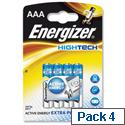 Energizer HighTech AAA Battery Alkaline LR03 1.5V Pack 4