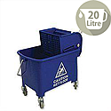 Mop Bucket Mobile Colour-coded with Handle 4 Castors 20 Litre Blue SPC/MB20B