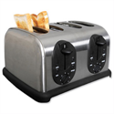 4 Slice Toaster Defrosting Stainless Steel