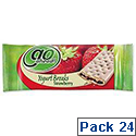 GoAhead Yogurt Biscuit Bar Strawberry Pack 24