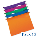 Rexel Multifile A4 Suspension File Plastic 30mm Assorted Pack 10