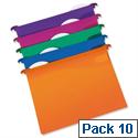 Rexel Multifile Foolscap Suspension File Plastic 30mm Assorted Pack 10