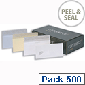 Conqueror DL White Envelopes Wove Peel and Seal CWE1007BW Pack 500