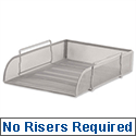 Osco Silver Mesh Letter Tray Stackable