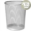 Osco Mesh Silver Waste Desk Bin Scratch-Resistant