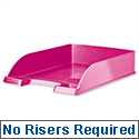 Leitz Bright Letter Tray Stackable Glossy Metallic Pink