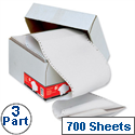 3 Part Carbonless Listing Paper Plain 60gsm 700 Sheets 5 Star