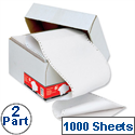 2 Part Listing Paper Carbonless Plain 241mm 60gsm 1000 Sheets 5 Star