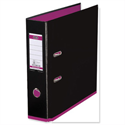 Elba MyColour Lever Arch File Polypropylene A4 Black and Pink