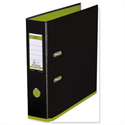 Elba MyColour Lever Arch File Polypropylene A4 Black and Lime