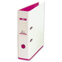 Elba MyColour Lever Arch File Polypropylene A4 White and Pink